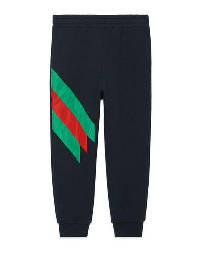 Jogging Pants w/ Stripe Trim  Size 4-12