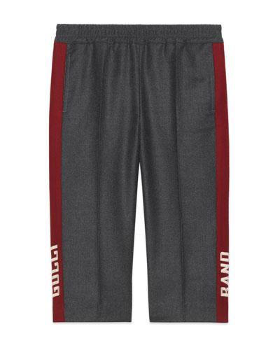 Wool Flannel Pants w/ Side Stripes  Size 4-12