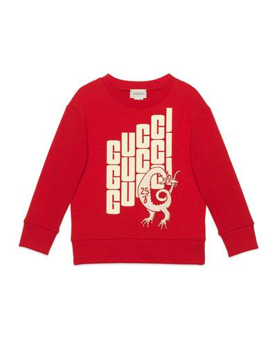 Repeat Logo-Print Sweatshirt  Size 4-12