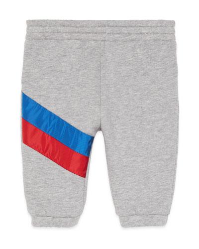 Jogging Pants w/ Diagonal Stripe Trim  Size 6-36 Months