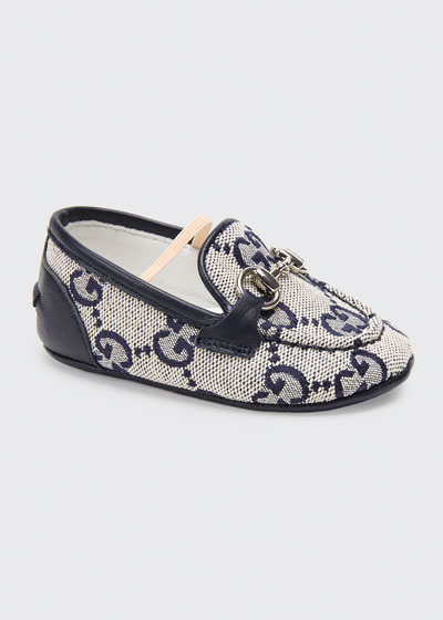 Jordaan GG Supreme Canvas Loafers  Baby