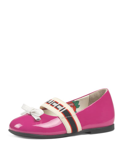 Patent Leather Gucci Band Ballet Flats  Baby/Toddler