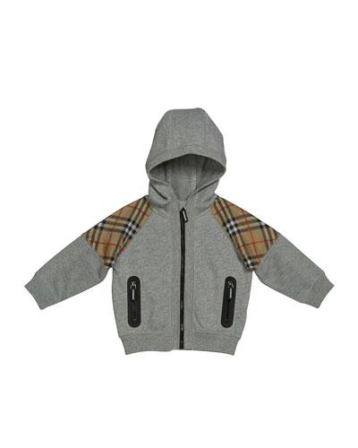 Hamilton Check-Trim Hooded Zip-Up Jacket  Size 6M-2