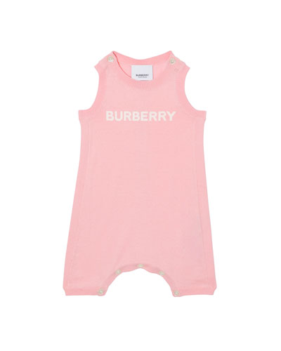 3d5373f19 Chris Fine Gauge Knit Logo Romper Size 3-12 Months Quick Look. Burberry