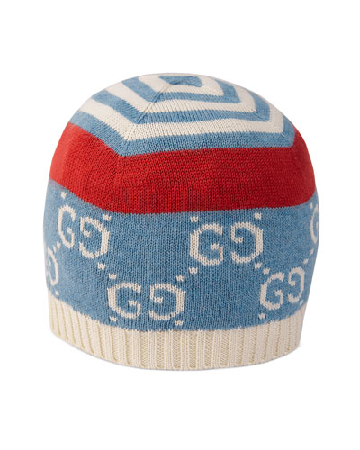 Babies' GG Printed Knit Beanie Hat  Size S-L
