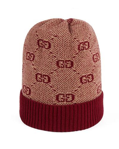 GG Knit Baby Beanie Hat