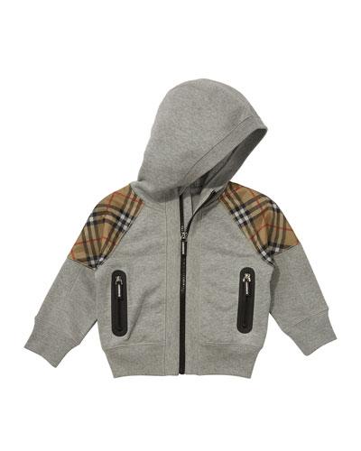 Hamilton Check-Trim Hooded Zip-Up Jacket  Size 3-14