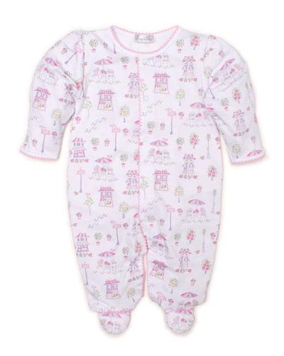 8400f23e4 Parisian Promenade Printed Pima Footie Playsuit Size Newborn-9 Months