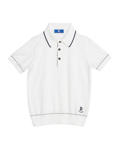 Kids' Cotton Polo Sweater  Size 6-10