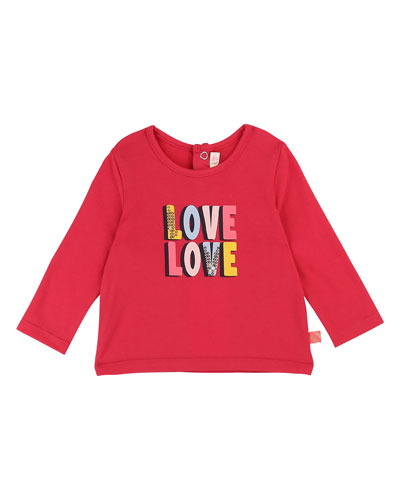 Love Love Sequin Graphic Tee  Size 12M-3