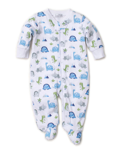 Dino Crew Printed Zipper Footie Playsuit  Size Newborn-9 Months