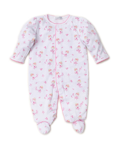 Twirly Toes Printed Pima Footie Playsuit  Size Newborn-9 Months