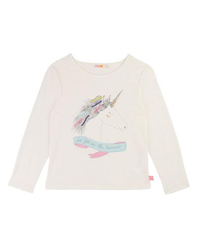 Girls' Unicorn Long-Sleeve Tee  Size 4-12