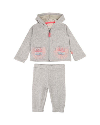 Hooded Zip-Up Jacket w/ Matching Pants  Size 12M-3