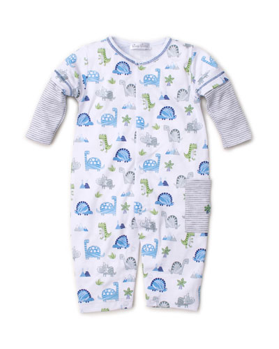 Dino Crew Printed Pima Coverall  Size 3-24 Months