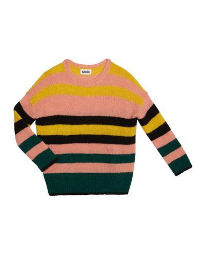 Geneen Mixed Stripe Mohair-Blend Sweater  Size 5-16