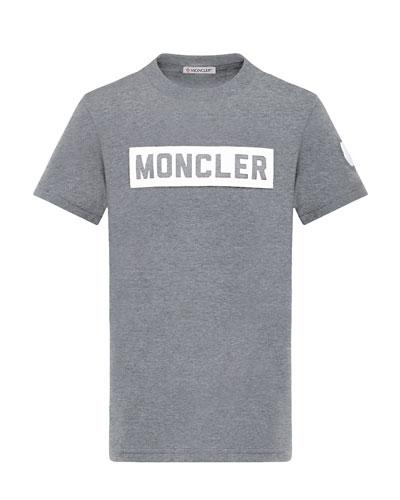 Block Letter Logo Short-Sleeve T-Shirt  Size 4-6