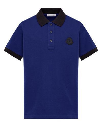 Contrast-Trim Polo Shirt  Size 8-14