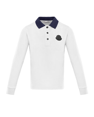 b8768c84d Long-Sleeve Polo Shirt w/ Side Taping Size 4-6 Quick Look. Moncler