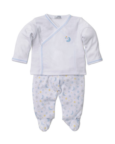 Super Stars Surplice Top w/ Printed Footed Leggings  Size Newborn-6 Months