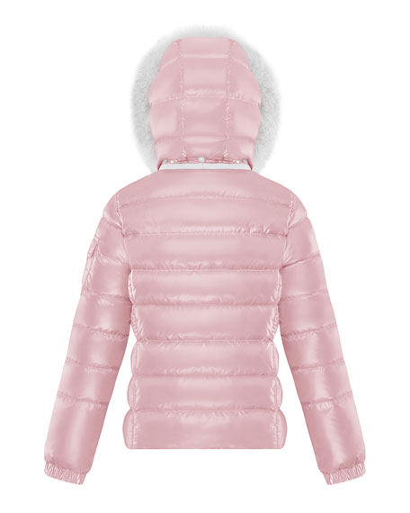 Girl's Bady Quilted Jacket w/ Fur Trimmed Hood, Size 4-6