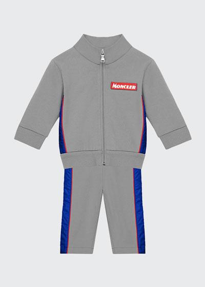 Contrast Trim Zip-Up Jacket w/ Matching Sweatpants  Size 12M-3
