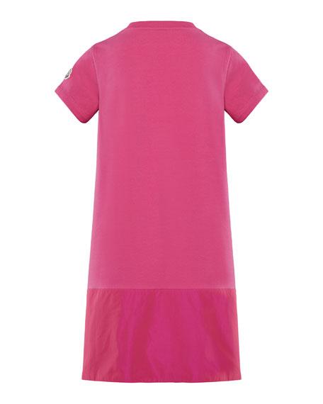 Short-Sleeve A-Line Dress w/ Side Logo Embroidery, Size 8-14