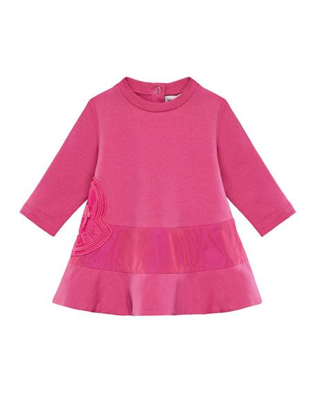 Long-Sleeve Dress w/ Side Logo Embroidery, Size 6M-3