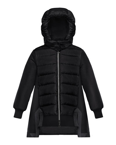 b3309c5af Mixed Material A-Line Long Coat Size 4-6 Quick Look. Moncler