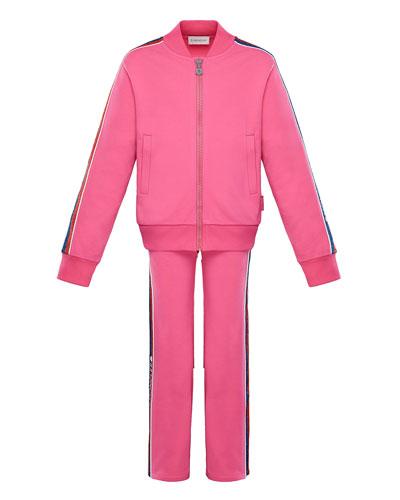 Glitter Striped-Trim Jacket w/ Matching Pants  Size 8-14