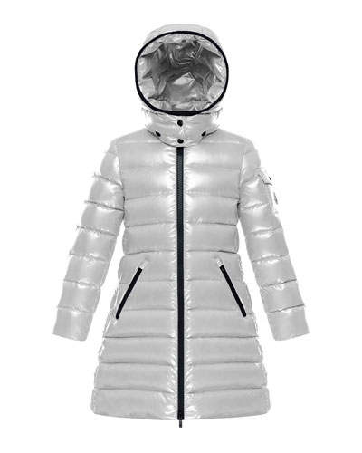 Quilted Hooded Long Coat  Size 8-14