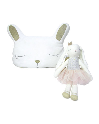 Girls' Bella Bunny Plush & Doll Set  0-12 Months