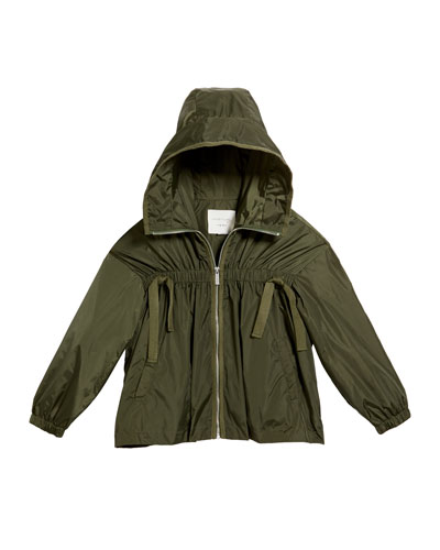 Rayne Lightweight Nylon Hooded Jacket  Size 7-14