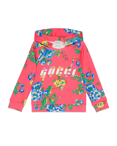 Floral Hooded Sweatshirt  Size 4-12