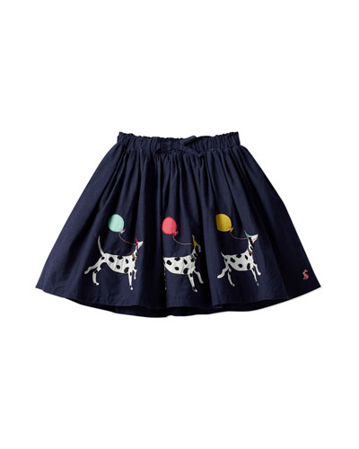 Ariel Dog & Balloon Applique Skirt  Size 2-6