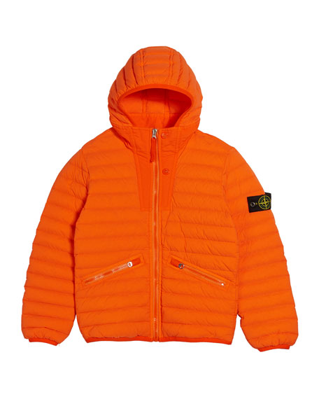 Channel Quilted Down Jacket, Size 12