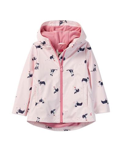 Rain Dance Dog-Print Raincoat  Size 2-6