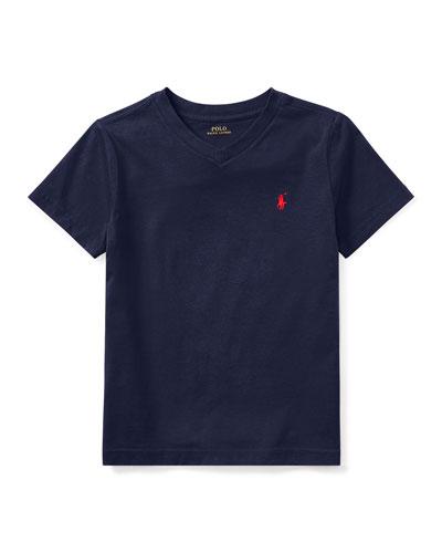 Short-Sleeve Jersey V-Neck T-Shirt  Size 2-3