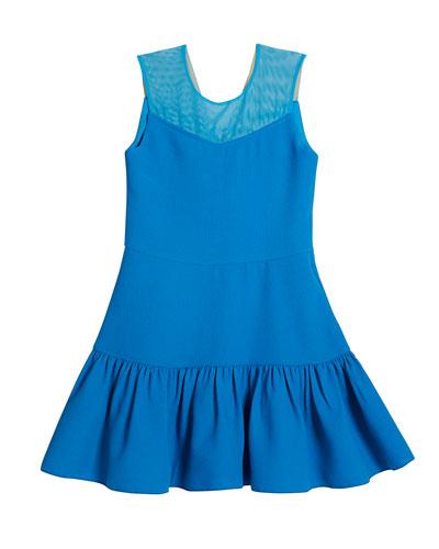 McKenna V-Neck Illusion Stretch Knit Dress  Size 7-16