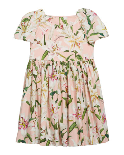 Girl's Lily Floral Print Short-Sleeve Dress  Size 4-6