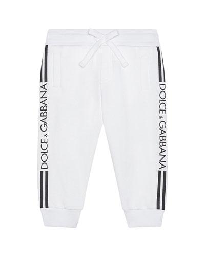 Boy's Logo Sides Jogger Pants  Size 6-24 Months