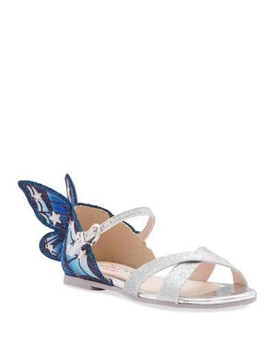 242110aeb4ee Chiara Fine Glitter Embroidered Butterfly Wing Sandals Toddler/Kids
