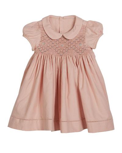 Smocked Short-Sleeve Dress  Size 6-24 Months
