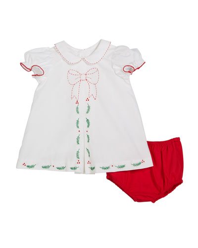 Merrymaker Peter Pan-Collar Dress w/ Bloomers  Size 9-24 Months