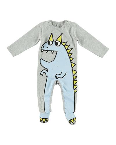 Dragon Cartoon Graphic Footie Pajamas  Size 3-9 Months