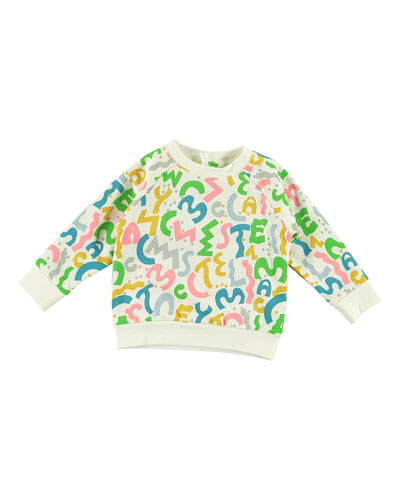 Girl's Squiggle Logo Letter Sweatshirt w/ Matching Sweatpants  Size 6-36 Months