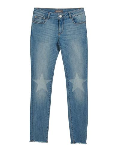 Chloe Skinny Jeans w/ Contrast Knee Stars  Size 7-16