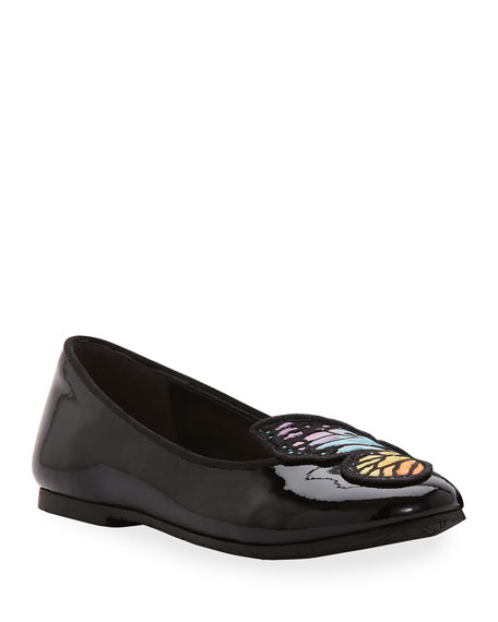 Bibi Butterfly Patent Leather Flats, Toddler/Kids