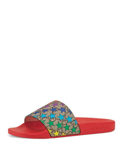 50a6d5465bc1 Star-Print GG Supreme Slide Sandals Toddler/Kids Quick Look. Gucci