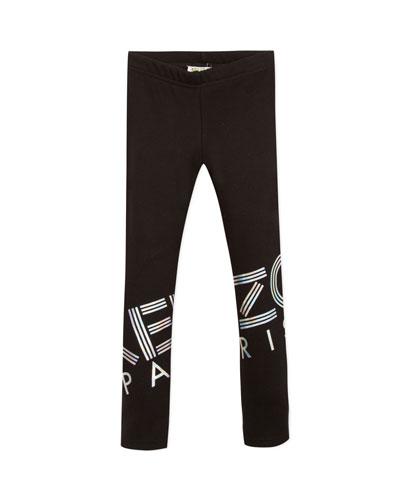 951e8d236e084 Iridescent Logo Print Leggings Size 2-6 Quick Look. Kenzo